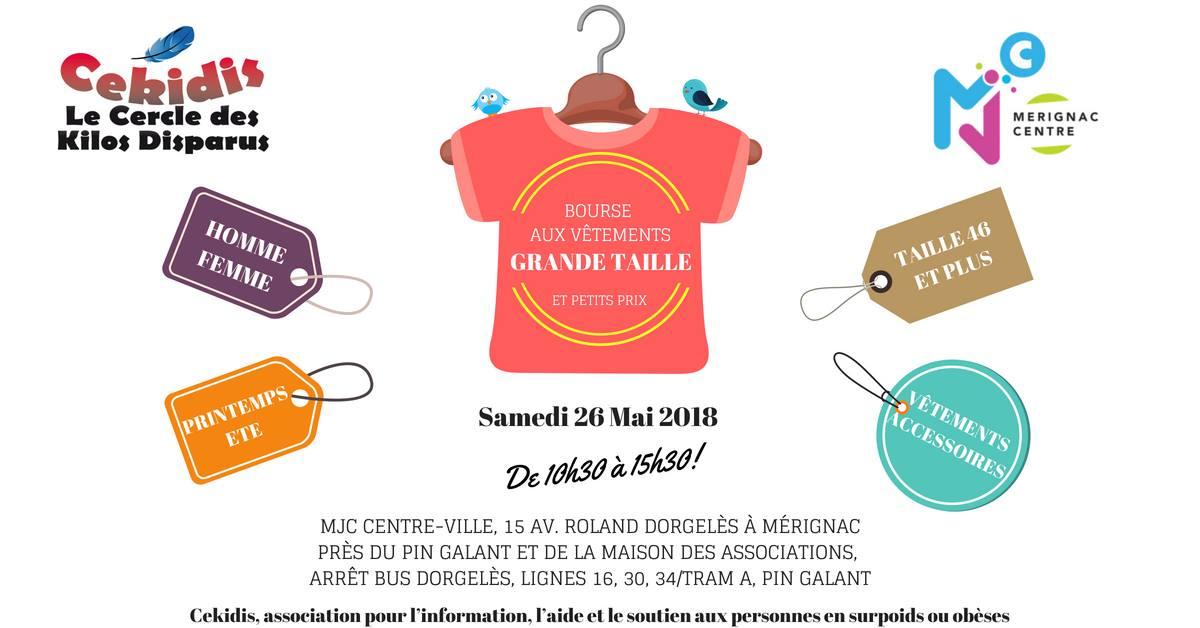 7f62f2901f7b4 Bourse aux vêtements GRANDE TAILLE, samedi 26 mai de 10h30 à 15h30 ...